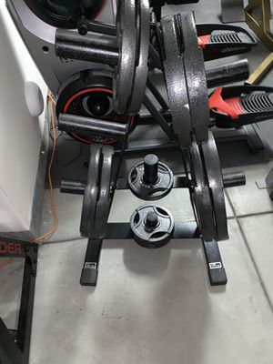 Olympic weight set for Sale in Santa Clarita, CA