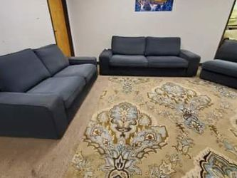 Grey Couch Loveseat And Chair Set for Sale in Aurora,  CO