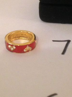 Red gold heart ring size 7 for Sale in Nashville, TN