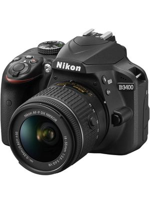 Nikon DSLR camera d3400 series with lens & memory card chip for Sale in Los Angeles, CA