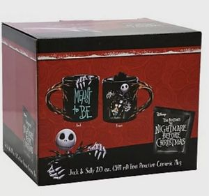 Nightmare Before Christmas Jack & Sally 20 oz. Sculpted Heat Changing Ceramic Mug for Sale in Spring Valley, CA