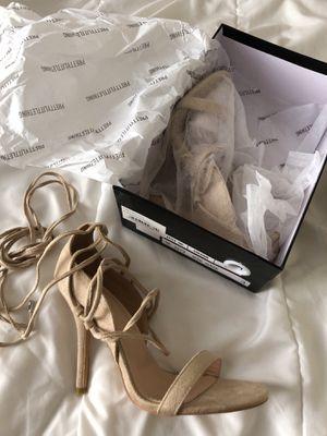 PRETTYLITTLETHING nude strappy heels for Sale in Phoenix, AZ