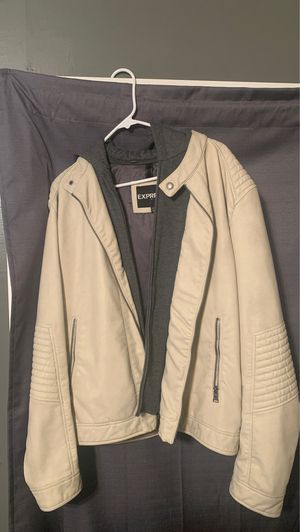 Express Men's Light Tan Leather Jacket for Sale in Buena Park, CA
