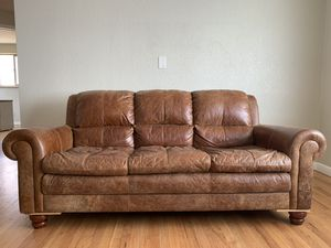 Genuine leather couch for Sale in Arvada, CO