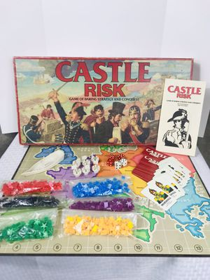 Vintage 1986 Parker Bros. Castle Risk Board Game for Sale in Pawtucket, RI