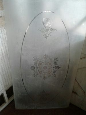 Large piece of etched glass for Sale in Abilene, TX