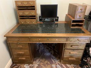 Solid oak desk for Sale in West Palm Beach, FL