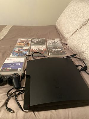 Ps3 and remote control and 7 games for Sale in Goldsboro, NC