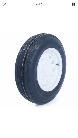 "2* 5.30-12 LRC Bias Trailer Tires on 12"" 5 Lug White STP Wheels 5.30x12 for Sale in San Bernardino, CA"