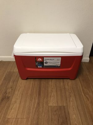 Large 48 Quart Red Igloo Cooler (New) for Sale in Austin, TX