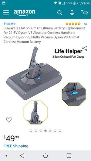 Biswaye battery for Dyson Vacuum V8 for Sale in Orlando, FL