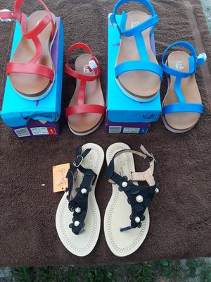 Girls size 1, 3 and 13 sandals for Sale in St. Petersburg, FL