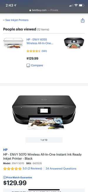HP ENVY PRINTER for Sale in Queens, NY