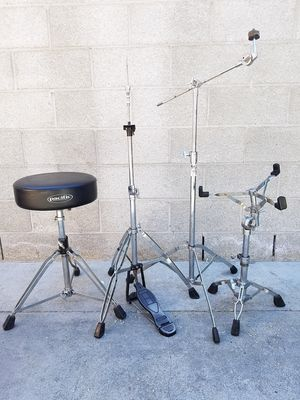 Drum hardware set hihat stand snare cymbal & throne for Sale in Long Beach, CA
