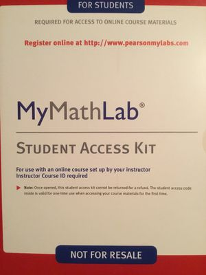 Sealed mymathlab access code for online course for Sale in Brooks, OR