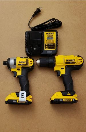 New Kit Combo Dewalt 20V Impact and Compact Drill whit Batteries 2.0AH and Charger FIRM PRICE for Sale in Woodbridge, VA
