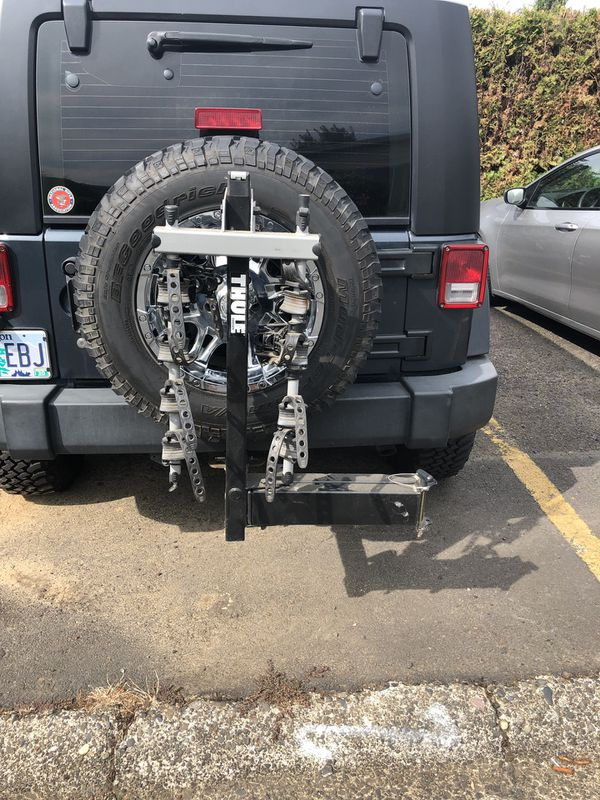 Bike rack, Thule 4 bike, slightly used. Paid $350,