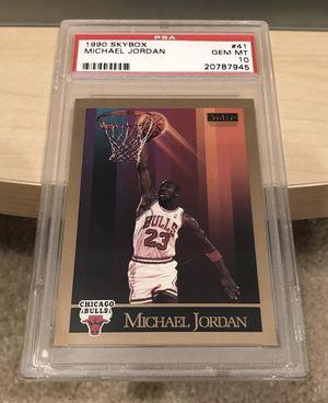 Michael Jordan card graded 10 gem mint for Sale in Sanger, CA