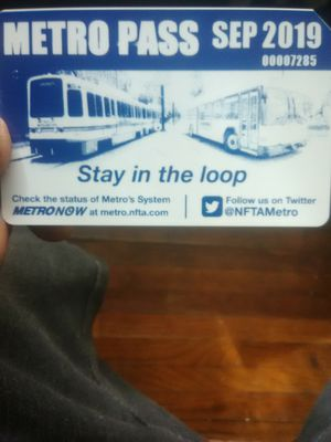 Bus pass $60 or best offer for Sale in Niagara Falls, NY
