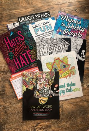 Brand new adult coloring books and knock knock note pads for Sale in Sacramento, CA