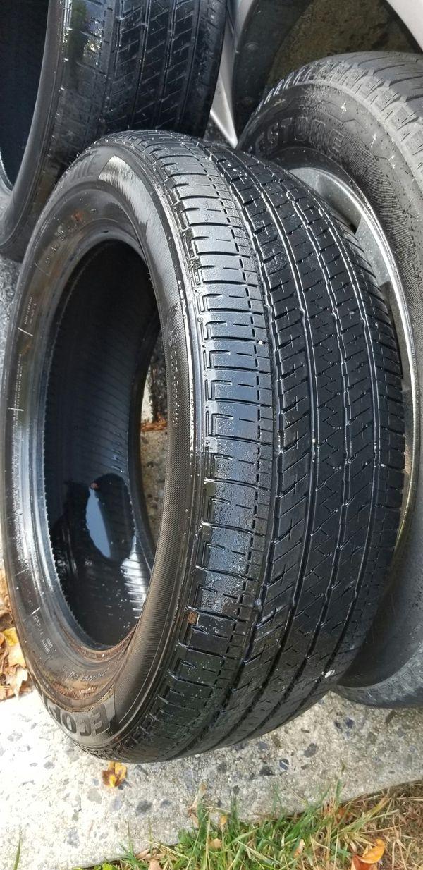 4 18in tires 225 55 18 brigestone kumbo. 225/55r18