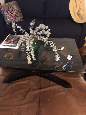 A glass coffee table for Sale in New York, NY