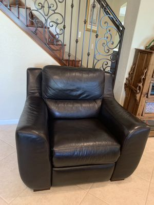 3 piece dark brown leather sofa set. Five of the seats have manual recliners. Purchased from Macy's. for Sale in Fort Lauderdale, FL