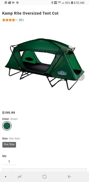 Kamp-Rite Compact Tent Cot (CTC) Double. for Sale in Poplar Grove, IL