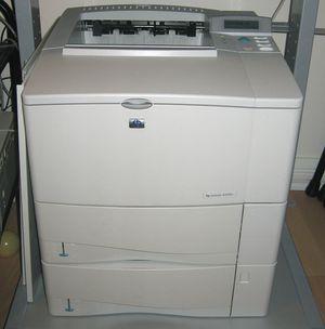 HP 4100 network LaserJet printer with new $150 toner cartridge for Sale in Washington, DC