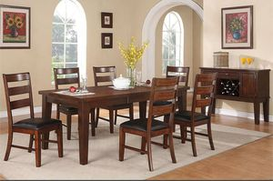 Dining Set Solid Wood BRAND NEW- Table with extension for Sale in Anaheim, CA