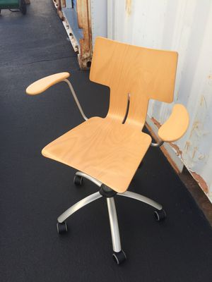 Modern Wood / Metal Swivel Desk Chair for Sale in Chicago, IL