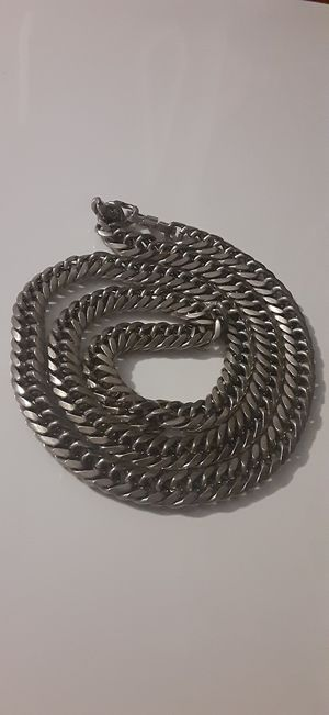 Mens silver plated cuban link chain 30 inch for Sale in Arlington, TX