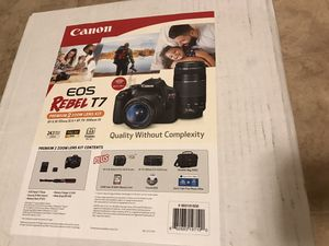 Canon eos Rebel t7!! Used one time ! Was a gift ! Pretty much brand new ! Comes with everything ! for Sale in Philadelphia, PA