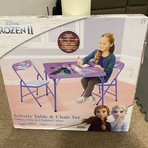 Brand new - Disney Frozen2 Activity Table And Chair Set for Sale in Hempstead, NY