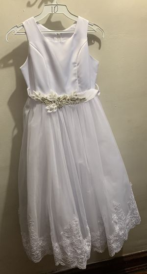 Brand new flower / first communion dress with gloves. Size 10. for Sale in Chicago, IL