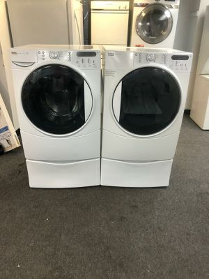 WASHER AND DRYER ELECTRIC GOOD CONDITION 90 DAYS OF WARANTY SE HABLA ESPAÑOL for Sale in Brooklyn Park, MD