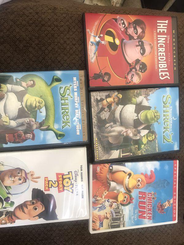 DVD lot of Pixar, Disney, Dreamworks