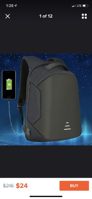 New fashion usb charge Anti theft backpack waterproof laptop backpack for Sale in Spartanburg, SC