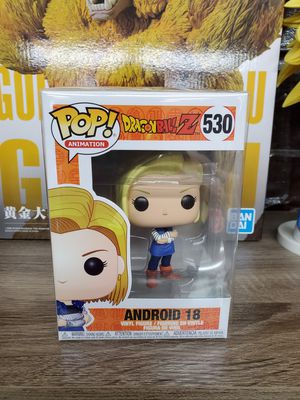 Japanese anime dragon ball z pop figure toy android 18 number 530 for Sale in San Gabriel, CA