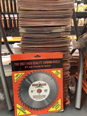 "8.25"" 40 Teeth Carbide Blades for Wood Cutting- Eagle for Sale in Pompano Beach, FL"