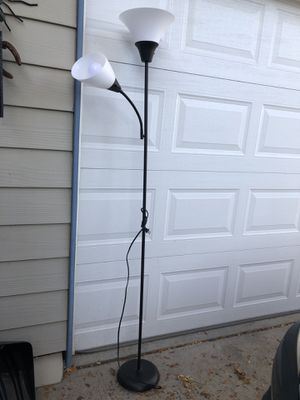 Two light floor lamp 6 ft for Sale in Denver, CO