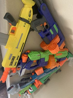 Nerf guns plus 200 bullets for Sale in LOS RNCHS ABQ, NM