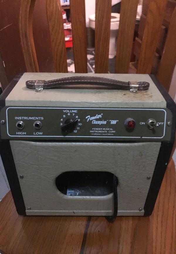"Fender champion amp ""600"" series"