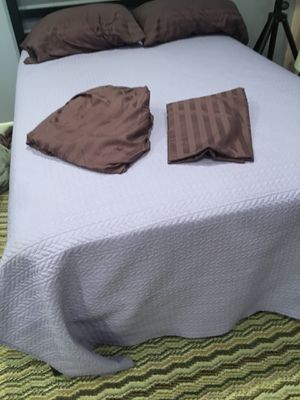 Full purple bedspread set of sheets and set a standard pillowcases Have 2 sets for Sale in Nashville, TN