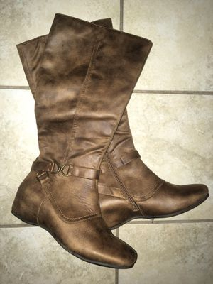 Brown Suede Flat Knee High Boots (Brand New!) size 9.5 for Sale in Evergreen, CO