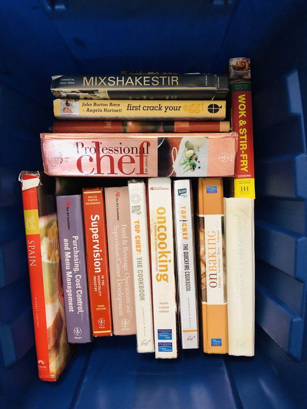 Box full of cook books