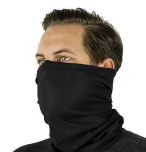 new Black Mens Tactical Face Mask Scarf Covid Mask Thin Breatheable Winter Warm for Sale in New York, NY