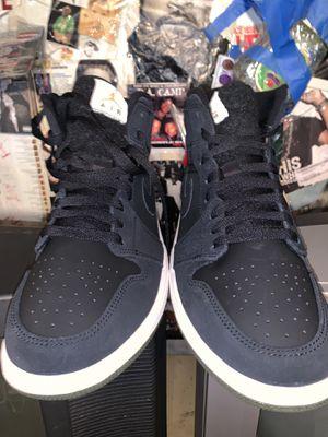 Black on black Jordan 1 wool tongue 9.5 for Sale in Houston, TX