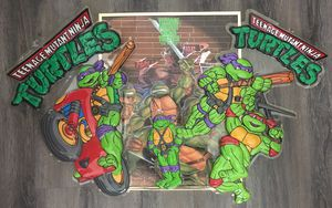TMNT Teenage Mutant Ninja Turtles Vintage Poster And Decals Action Figure Boys Toy Mancave for Sale in Peoria, AZ