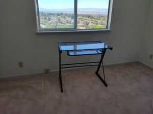 Metal desk with glass top for Sale in Fremont, CA